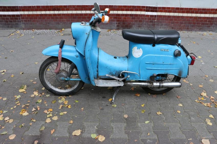 Blue bike in the middle of neukolln