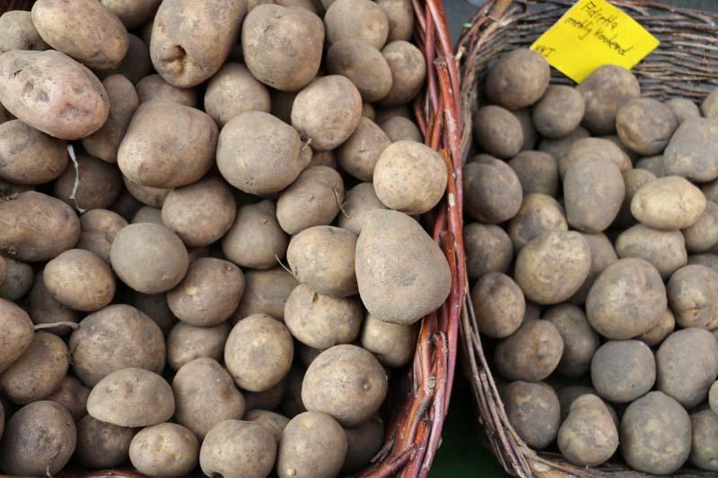 Potato Neukolln flea market in Berlin Maybachufer