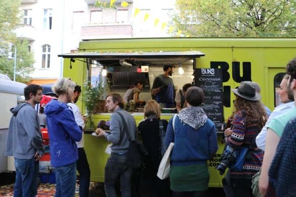 Bus food Neukolln flea market in Berlin Maybachufer