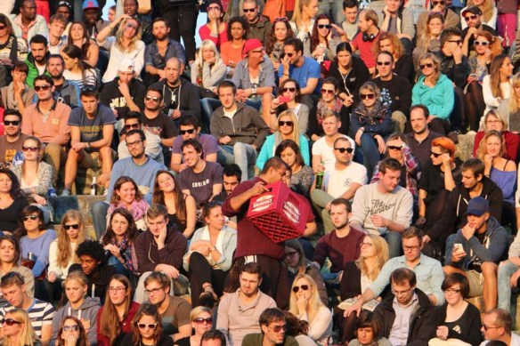 Thousands of people attend the Bearpit Karaoke show  at meauerpark