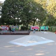 Skate Boards Popular neighborhood in the Neukolln district