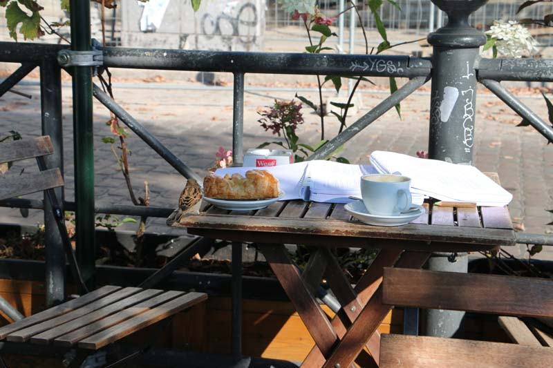 A small cafe icecream parlor breakfast and brunch outdoor
