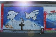 Dove of peace flying