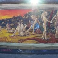 Adam and Eve graffiti