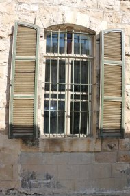 Vintage retro window at an art gallery in Amman