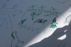 Refugee kids drawings what makes them happy at the jarash gaza refugee camp