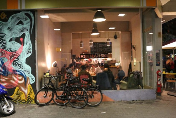 nightlife and bicycles in kreuzberg