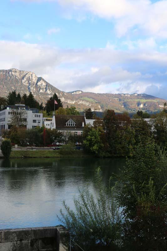 Medieval Baroque city in switzerland