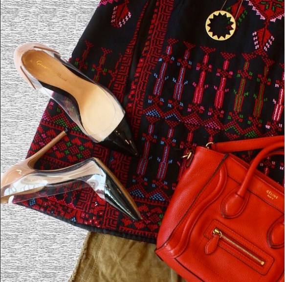 Tonight's #ootd 👠👛 shop #PalestineCollection online now! #ShopNow www.allthingsmochi.com