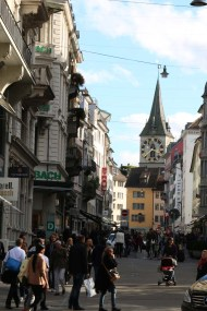 A photograph of Zurich Altstadt old town first district