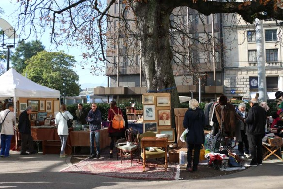 Flea market in zurich