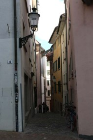 A photograph of old buildings and architceture in Zurich Altstadt old town first district