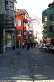 A photograph of old building in Zurich Altstadt old town first district