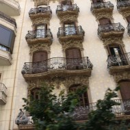 Balconys Old houses and architecture in Barcelona by Gaudi and others