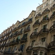 Balconeys Old houses and architecture in Barcelona by Gaudi and others