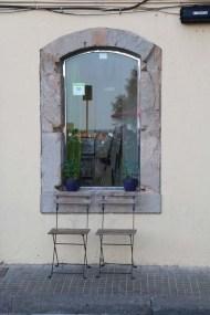 Window of the surf house beach cafe