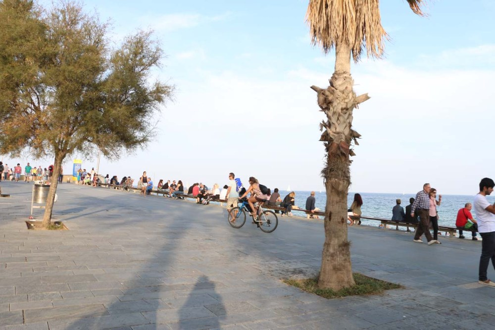 Bike along Barcelona beaches
