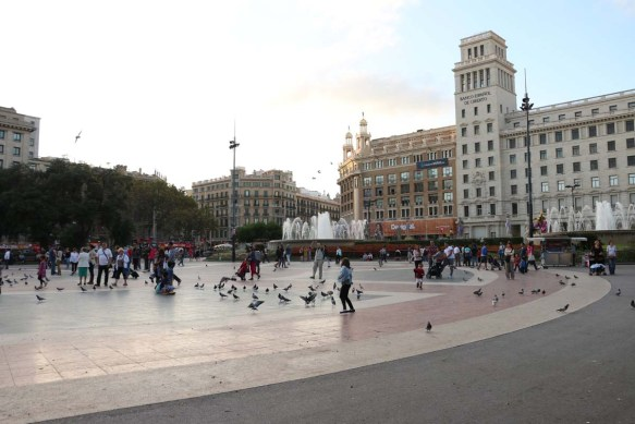 Catalunya Square in Barcelona Down Town