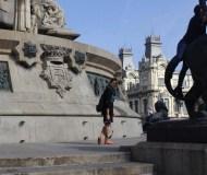 Razan Masri at the Columbus Monument Barcelona