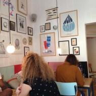 a beautiful interior of an urben cafe