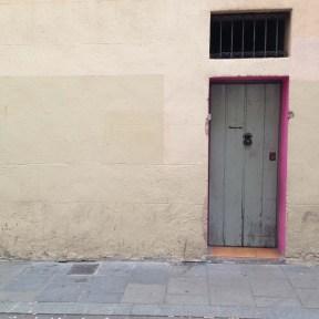 Door and wall in Barcelona Gracia