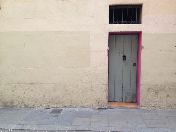 Door and wall in Barcelona Gracia