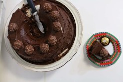 Filling of the Ferrero Rocher Chocolate cake