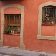 Orange wall in Barcelona