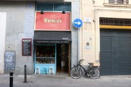 Shop in Barcelona with bicycle infront of it