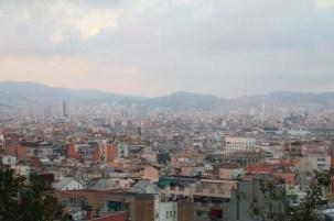 Overlooking city of Barcelona