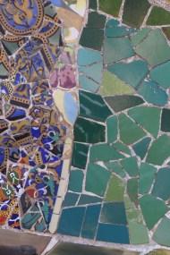 Broken glass mosaic style