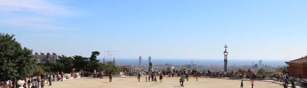 overlooking barcelona