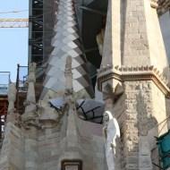 Close up photo of the details of the church La Segrada Familia in Barcelona