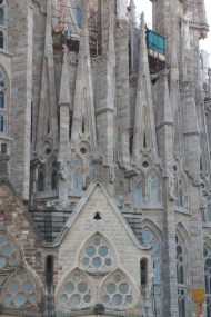 Close up photo of the details of the church La Segrada Familia in Barcelona