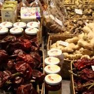 Big open market in Barcelona