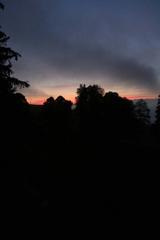 Sunrise Jura Mountains Switzerland