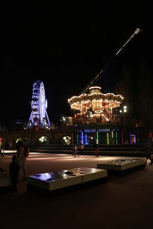 Amusement park in Barcelona