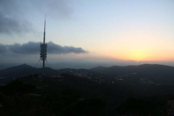 Sunset view overlooking Barcelona