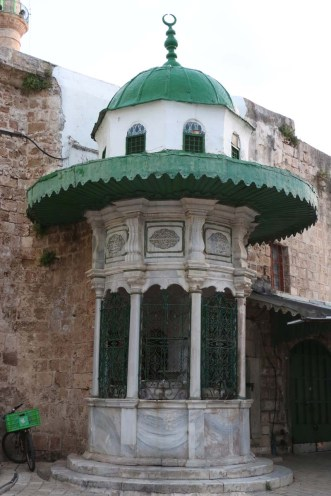 The old green pasha mosque in Akka Akko