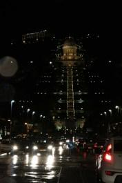 Al Bahi Garden at night Haifa