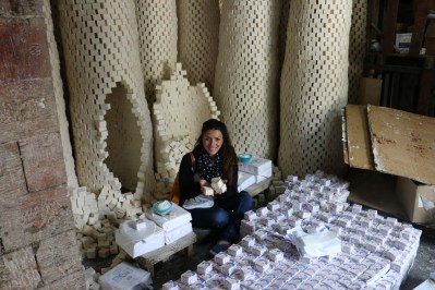 At the Shakaa Soap Company Making Nabulsi Soap مصنع صابون نابلسي