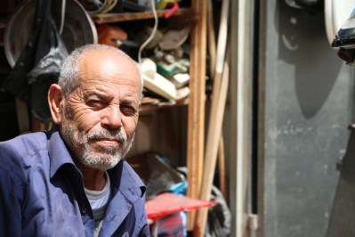 Portrait of a man in Nablus