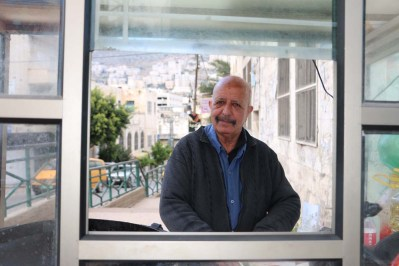 A portrait of a man making falfel in Nablus
