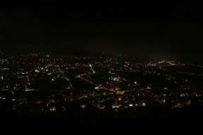 Overlooking night view of Nablus