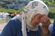 Portrait of an old woman in Nazareth