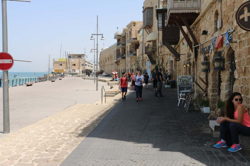 The streets and shops in Yafa Yafo Jaffa