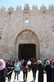 Bab al amood the gate of Damascus in Jerusalem - باب العمود في القدس