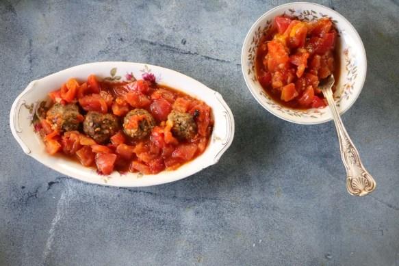 Middle-Eastern Kefta Kabab also known as Tomato Kufta كفتة بالبندورة