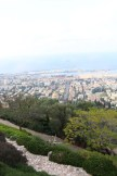 مدينة حيفا فلسطين، overlooking the streets and sea of Haifa Palestine Israel