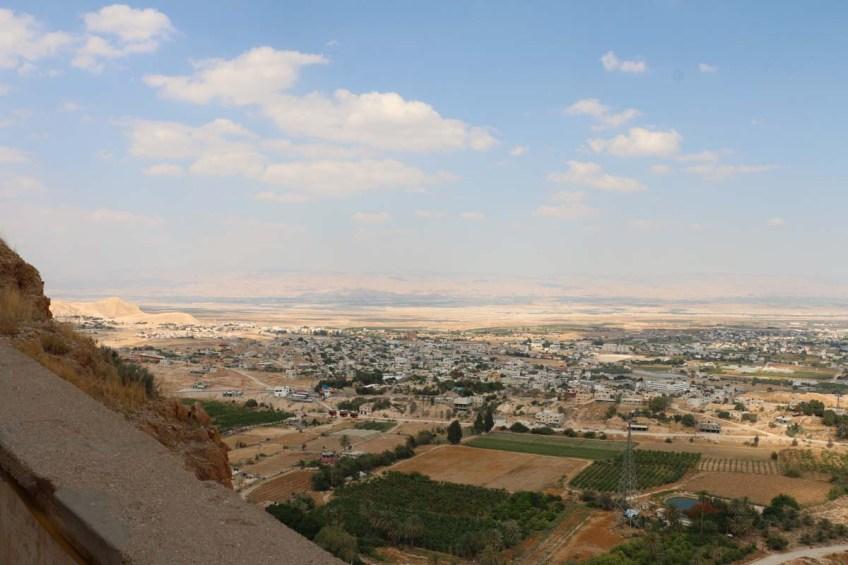 Overlooking mount of temptations in Jericho west bank palestine